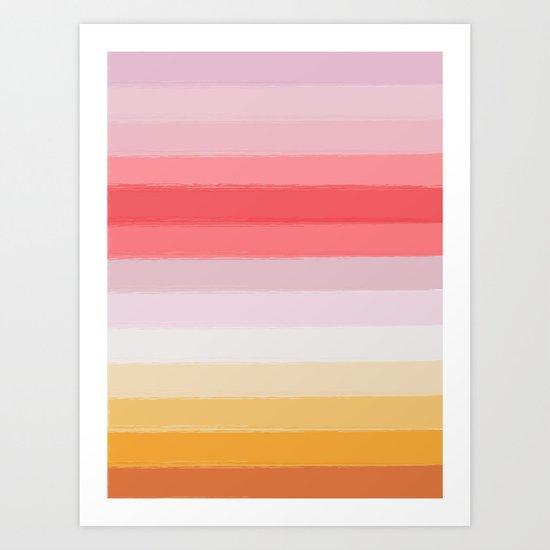 Stripes Colors Art Print