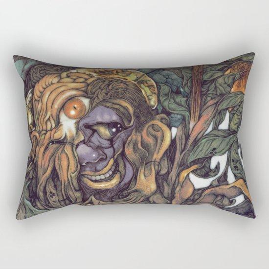 Hello & Goodbye (Hindu color style) Rectangular Pillow