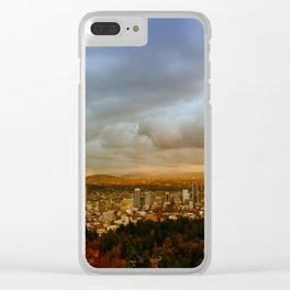 DOWNTOWN PORTLAND - FALL Clear iPhone Case