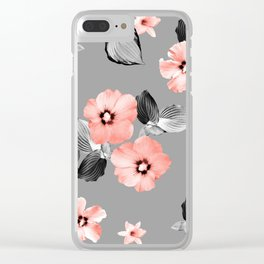 Living Coral Floral Dream #5 #flower #pattern #decor #art #society Clear iPhone Case