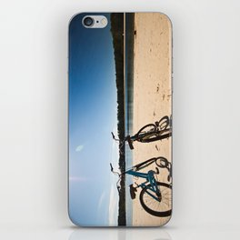 2 bicycles on beach iPhone Skin