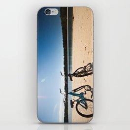 2 bicycles on beach iPhone Skin