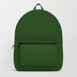 DEEP FOREST Green solid color Backpack