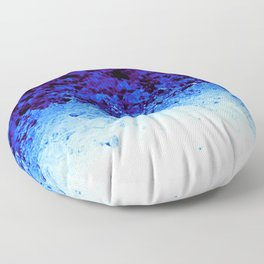 Indigo Blue Crystal Ombre Floor Pillow
