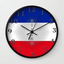 Tricolore Bistro Wall Clock