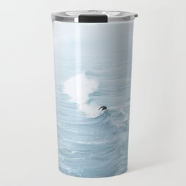 Blue Waves Surfer Travel Mug