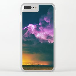 The Storm (Color) Clear iPhone Case