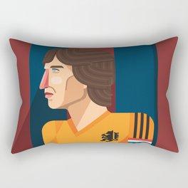 Johan Cruyff, The Godfather of Modern Football Rectangular Pillow