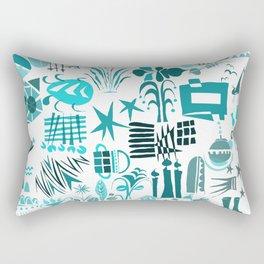 Mishmash Teal Rectangular Pillow