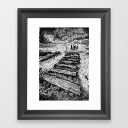 Drawing Black ink - Storm Framed Art Print