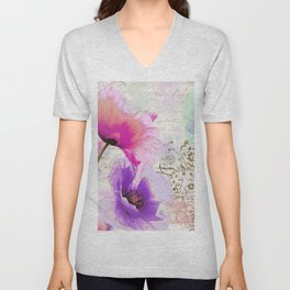 Poppies and Paint I Unisex V-Neck
