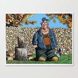 Walter's Woodpile Canvas Print
