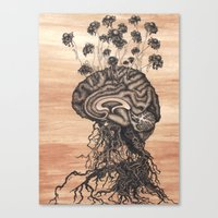 brain Canvas Prints featuring Brain by Kapena Ornellas