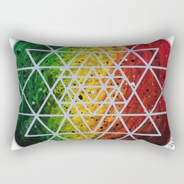 Rasta Planet with Sri Yantra Rectangular Pillow