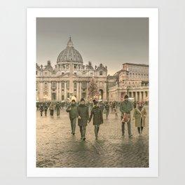 Conciliazione Street, Rome, Italy Art Print