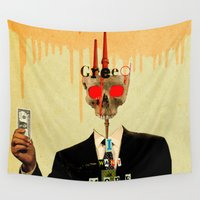 motivation Wall Tapestries featuring Mankind Motivation 1 by Marko Köppe