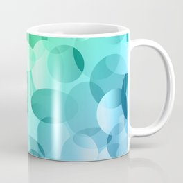 Green and Blue Layered Gradient Ovals! Coffee Mug