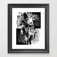 Frozen Skull Framed Art Print
