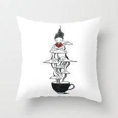 Zen tea Throw Pillow