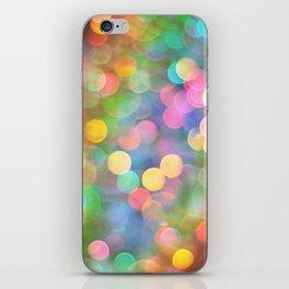 Rainbow Bokeh I iPhone Skin