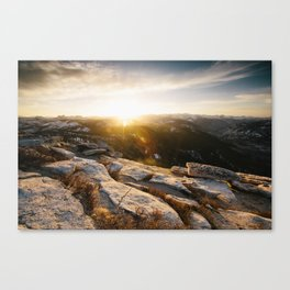 Clouds Rest Sunrise Canvas Print