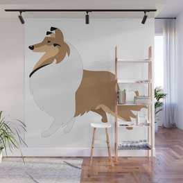 Collie Dog Wall Mural