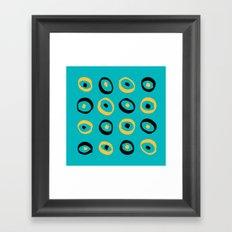 Fun Circle pattern Framed Art Print