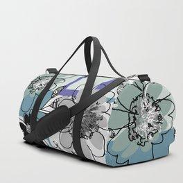 flowerpatch blue Duffle Bag