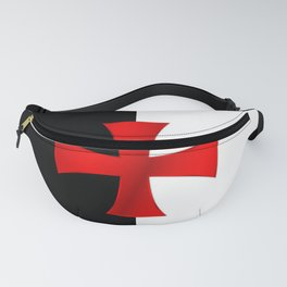 Dual color knights templar red cross Fanny Pack