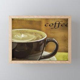 cappuccino coffee textured art Framed Mini Art Print