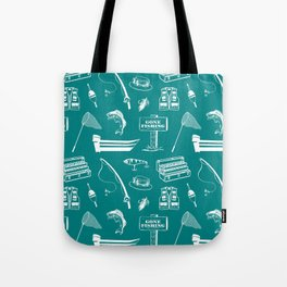 Gone Fishing // Teal Tote Bag