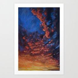 Sunrise Nov. 3 2015 Billings MT Art Print