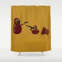 russian Shower Curtains featuring Russian Mafia by Lorenzo Cestaro