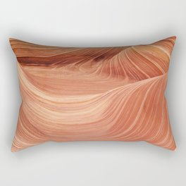 Wave Rock in the Coyote Buttes Rectangular Pillow
