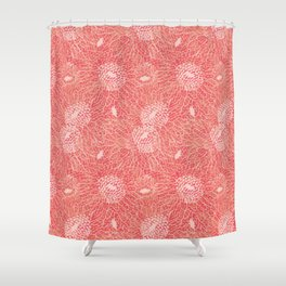 textured gerberas pattern Shower Curtain