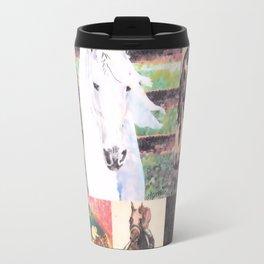 """""""Horse Collage II"""" Travel Mug"""