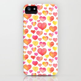 Watercolor Heart Hunters iPhone Case
