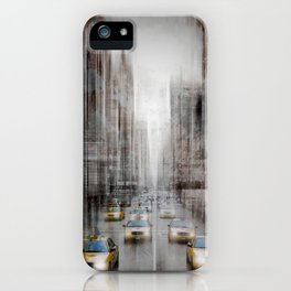 City-Art NYC 5th Avenue Traffic iPhone Case