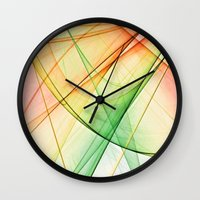 tequila Wall Clocks featuring tequila sunrise by Maureen Popdan