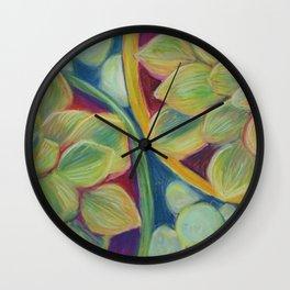 Summer Succulents Wall Clock
