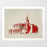 Payson, Utah Temple Art Print
