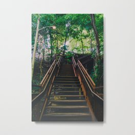 Stairs of Summer and Adventure Metal Print