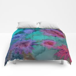 Flowers abstract #2 Comforters