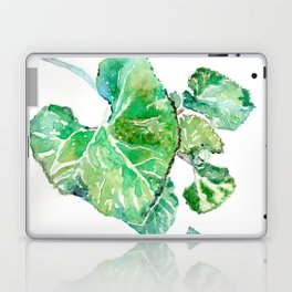 Hand painted watercolor Heart leaves Laptop & iPad Skin