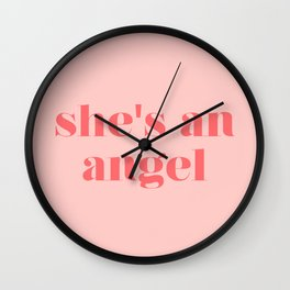 she's an angel Wall Clock