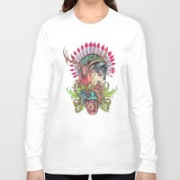totem Long Sleeve T-shirts featuring Totem by RAZTINE