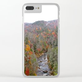 Fall Forest, Horizontal Clear iPhone Case
