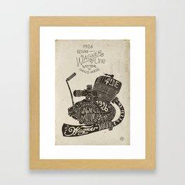 Hand lettering engine block Framed Art Print