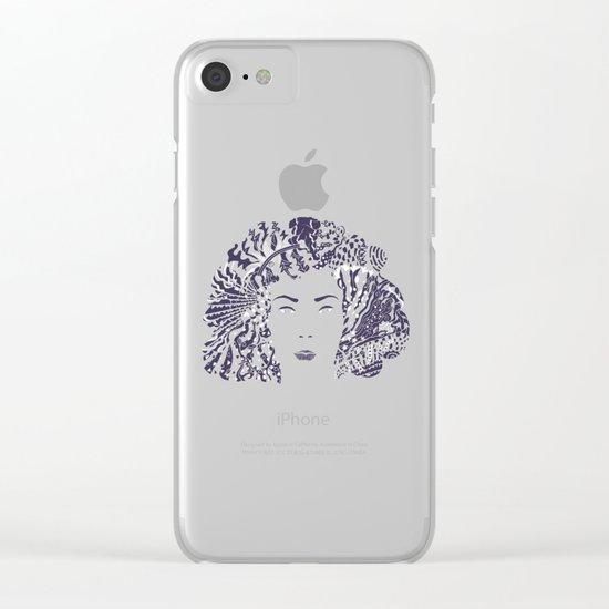 Purple Night Clear iPhone Case