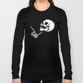 Finger Gun Skelly Long Sleeve T-shirt